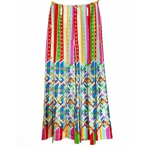 GUCCI Wide-Leg Silk Multicolored Pants NWT